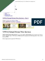 VPWS (Virtual Private Wire Service) - Part 1 - Www.ipcisco.com _ Www.ipcisco