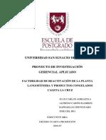 2003 Adriazola Factibilidad de Reactivacion de La Planta Langostinera y Productos Congelados Caleta La Cruz
