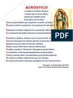 Acrostico Virgen de Guadalupe