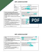 nepf lesson plan prep