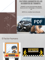 Factores Causantes de Los Accidentes