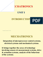 Mechatronics Unit I