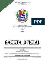 Presupuesto 2017 Título I