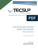 Tecsup - Controlador Siemens Sipart Dde Server