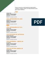 LIGAS ANTIOQUEÑAS DE DEPORTES