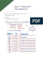 Algebra I - Homework 7