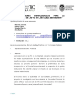 Cancela Et Al Condiciones Institucionales Para Tic