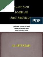 Istiazah,Basmalah,Sifat Huruf