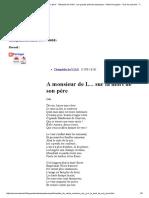 Theophile de Viau_A Monsieur de L..Sur La Mort de Son Pere