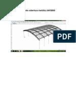 Modelo Cobertura Metálica SAP2000