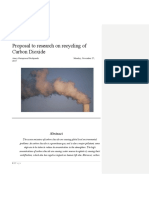 Research Proposal Sample for beginners- CO2 recyclng