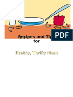 Food Plans Recipe Book