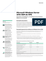 Microsoft Windows Server 2016 OEM de HPE