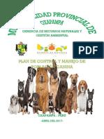 Plan de Control y Manejo de Población Canina
