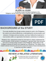 Alien vs Juan Foreign Workers in a Filipino Office