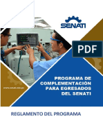 Reglamento Programa de Complementacion LEER