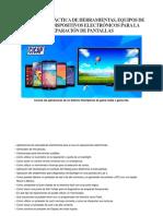 Aplicacion Practica de Herramientas Equipos de Medicion y Dispositivos Electronicos Para La Reparacion de Pantallas