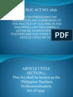 Republic Act No. 7836