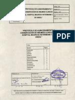 Protocolo de Almacenamiento de Insumos No Esteriles