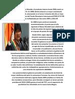 En La Gestión de Evo Morales