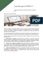 10 Elementos Esenciales Para El CFDI 3.3