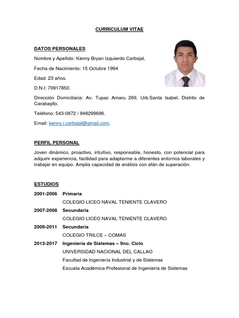 Curriculum Vitae uploaded by Luis Miguel