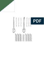120. Standard Operating Scissor Blunt Blunt Str 14.5cm