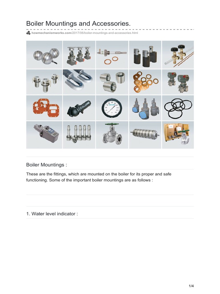 Boiler Mountings and Accessories   Valve   Boiler