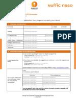 OTS Indonesia Application Form 2018-2019