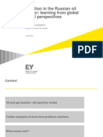Ey Taxation in the Russian Oil Sector Learning From Global Fiscal Perspectives 2016