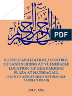 Presentation on Slope Stability Near GDA Parking Plaza