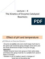 Lecture 4 Kinetics Enzyme and Immobilization System