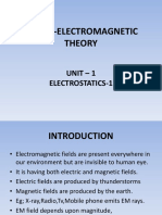 Electromagnetic Theory-unit 1