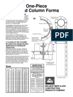 MFG Fiberglass Column Forms Product Sheet