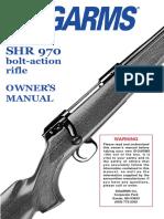 Sig Shr970 Instruction manual
