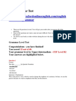 About the Grammar Test