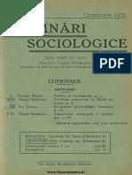 Insemnări Sociologice, Cernăuți. Anul I Nr 7 Octombrie 1935