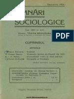 Insemnări Sociologice, Cernăuți. Anul I Nr 9 Decembrie 1935