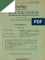 Insemnări Sociologice, Cernăuți. Anul I Nr 12 Martie 1936