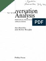Hutchby & Wooffitt - Conversation Analysis