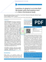 Evaluation of Chemokines in Gingival Crevicular Fluid