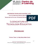 Programa UTN- Lic en tecnología educativa