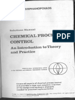 Solution Manual- Chemical Process Control by Stephanopoulos
