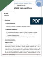 Informe 1 de Humedad Higroscópica y Análisis Granulométrico