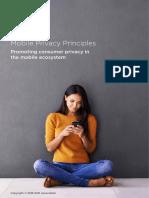 GSMA Privacy Principles