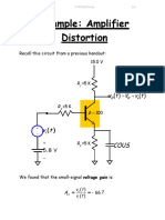 Example Amplifier Distortion
