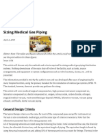 Sizing Medical Gas Piping