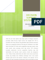 PPT DECISION SUPPORT SYSTEM (DSS)