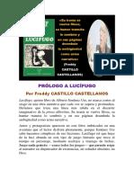 Prólogo a Lucífugo (Por Freddy Castillo Castellanos)