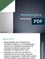 Aula 1 - Apresentação - Conteudo Programático